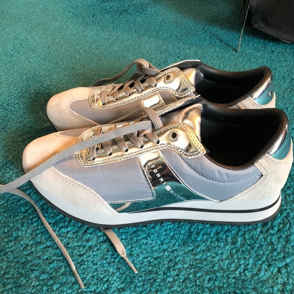 Tommy Hilfiger Silver Sneakers